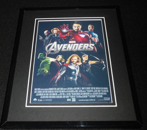 The Avengers Framed 8x10 Repro Poster Display Robert Downey Jr Chris Hemsworth