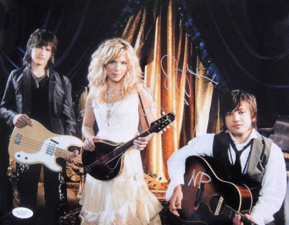 """The Band Perry Signed by All """"3"""" 11x14 Photo Autographed JSA"""