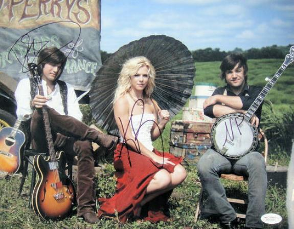 "The Band Perry Signed by All ""3"" 11x14 Photo Autographed JSA"