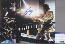 THE BATTLE! Ewan McGregor Ray Park Signed STAR WARS 11x14 Photo PSA/DNA