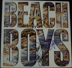 The Beach Boys Autographed Vinyl Album Cover by Brian Wilson, Bruce Johnston, and Mike Love