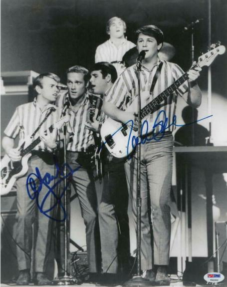Al Jardine & Mike Love The Beach Boys Band Signed Autograph 11x14 Photo - Psa