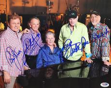 Signed Brian Wilson Picture - The Beach Boys 11x14 Color 5 Sigs Psa dna #w04853