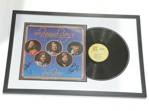 The Beach Boys Signed Framed 15 Big Ones Album Brian Wilson Love Jardine Jsa Loa