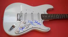 The Beach Boys Signed Autographed Electric Guitar by 4 Love Jardine Marks Bruce
