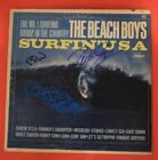 The Beach Boys Signed Autographed Surfing USA Album Brian Wilson Mike Love Marks