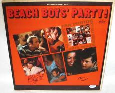 The Beach Boys Signed 'party' Album Cover Brian Wilson & Mike Love Psa/dna Coa