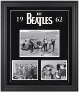 THE BEATLES FRAMED (1962) COLLAGE w/ FELT & LOGO