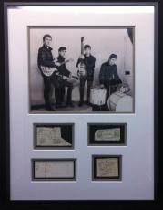 "The Beatles 1962 Vintage Signed 19.5""x25.75"" Display John Paul George Pete"