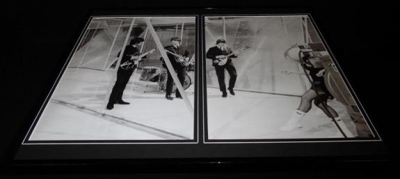 The Beatles 1965 Christmas Framed 16x20 Photo Display John Paul George Ringo