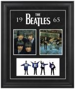 THE BEATLES FRAMED (1965) COLLAGE w/ FELT & LOGO