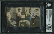 The Beatles (3) Harrison, McCartney & Starr Signed 2.65x4.5 Photo BAS Slabbed