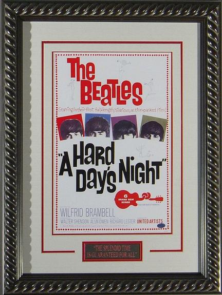 The Beatles A Hard Day's Night Framed 11x17 Poster