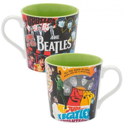 The Beatles Album Collage 12oz. Ceramic Mug