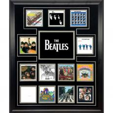 The Beatles CD cover discography photo collage framed Paul McCartney John Lennon