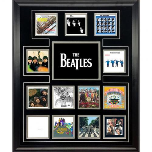 The Beatles CD cover discography photo collage framed Paul McCartney John Lennon