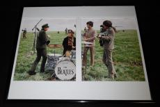 The Beatles Framed 16x20 Photo Display John Paul George Ringo