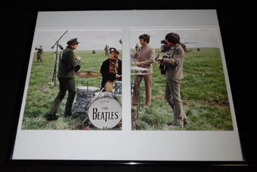 The Beatles Framed 16x20 Photo Display John Paul George Ringo
