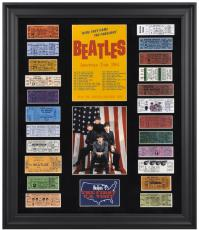 The Beatles Framed 1964 U.S. Tour Presentation with 23 Replica Concert Tickets