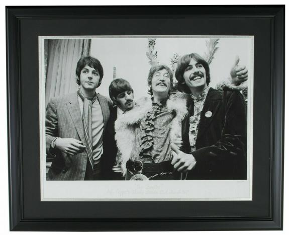 The Beatles Framed 24x29 Sergeant Pepper Lonely Hearts Club Band Hulton LE36/375