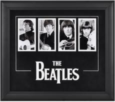 The Beatles Framed 4-Photograph Collage with Laser Cut Logo