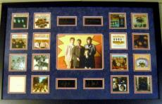 The Beatles framed and matted mini album cover images with laser signatures Ringo Starr,  Paul McCartney, John Lennon and George Harrison 22x34