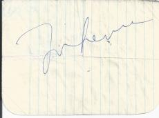 The Beatles John Lennon Jsa Certified Authentic Signed Page Autographed Rare!
