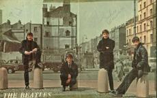 The Beatles John Lennon Paul McCartney Signed Autographed Color 11x16 Photo JSA