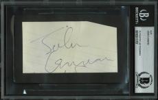 The Beatles John Lennon Signed 2.35x4.25 Cut Signature BAS Slabbed