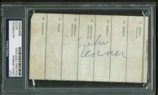 The Beatles John Lennon Signed Autographed 1963 3x5 Album Page PSA/DNA