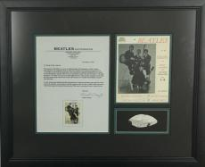 The Beatles John Lennon Signed Autographed 1x2.5 Album Page Caiazzo Beckett BAS