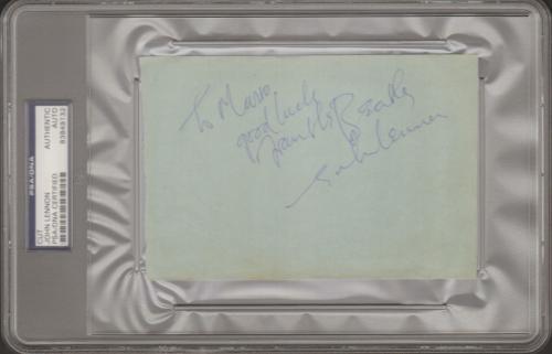 The Beatles JOHN LENNON Signed Autographed Cut Slabbed PSA/DNA #8389132