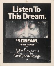 The Beatles John Lennon Signed Autographed Walls & Bridges Poster PSA/DNA