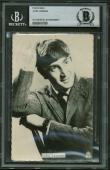 The Beatles John lennon Vintage Signed Autographed 3x5 Photograph Beckett BAS
