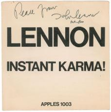 The Beatles: John Lennon & Yoko Ono Signed Autographed 45 Album Graded 9 PSA