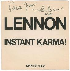 The Beatles: John Lennon & Yoko Ono Signed Autographed 45 Album Graded 9 PSA/DNA