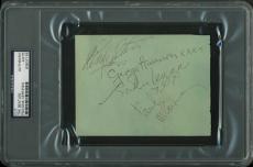 The Beatles - Lennon, Harrison, McCartney & Starr Signed 4x5.5 Cut PSA Slabbed