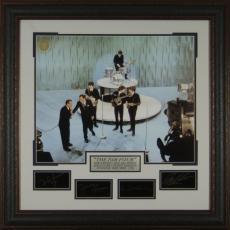 The Beatles - Ed Sullivan Show Replica Signature Display