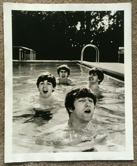 The Beatles Original John Loengard Miami pool 1962 16x20 Time Life Photo RARE