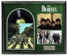 The Beatles Paul McCartney Autographed Abbey Road Album LP + Display Shadowbox C