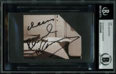 "The Beatles Paul McCartney ""Cheers!"" Signed 2.75x3.5 Cut Signature BAS Slabbed"