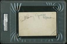 The Beatles Paul McCartney & George Harrison Signed Autographed PSA/DNA Ciazzio
