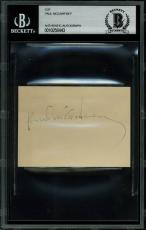 The Beatles Paul McCartney Signed 2.5x3.5 Cut Signature BAS Slabbed