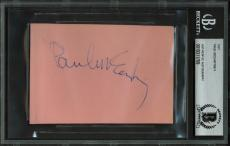 The Beatles Paul McCartney Signed 3x4.5 Cut Signature BAS Slabbed