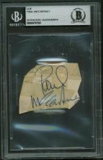 The Beatles Paul McCartney Signed Autographed 2x2 Vintage Album Page Beckett BAS