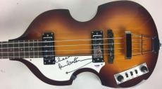 The Beatles Paul McCartney Signed Autographed Lefty Hofner Bass Guitar PSA/DNA