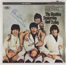 The Beatles Paul McCartney Signed Autographed Yesterday And Today Album PSA/DNA