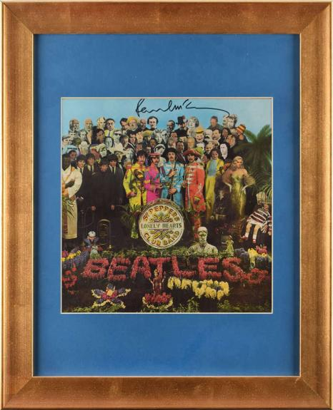 The Beatles Paul McCartney Signed Srgt Peppers Album Cover JSA