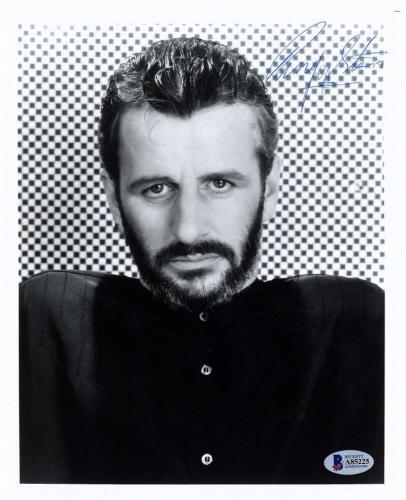 The Beatles Ringo Starr Signed Autographed 8x10 Photograph Beckett BAS