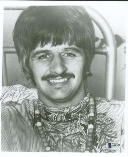 The Beatles Ringo Starr Vintage Signed Autographed 8x10 Photo Beckett BAS
